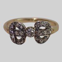 Edwardian Diamond Bow Ring , 15CT