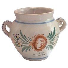 Petite HB Quimper Pot , Early 20th Century