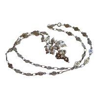 Art Deco Italian 800 Silver Necklace