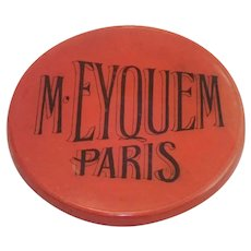 Advertising Pocket Mirror , Paris France , C.1900