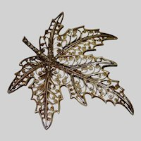 Vintage Alice Caviness Sterling & Marcasite Pin