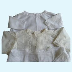 White Cotton, Antique French Doll Blouses
