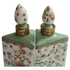 Scent Bottles, Hand Painted Porcelain , French C. 1890