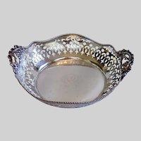 Antique Sterling Pierced Dish, MONTGOMERY BROS