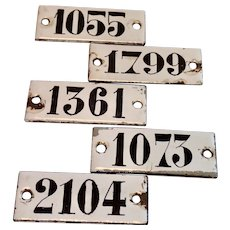 French Enamel Seat Numbers , Sold Individually , No. 1799 Is Sold