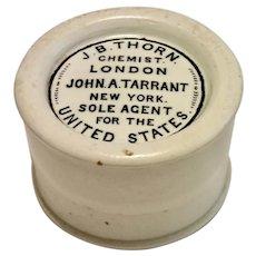 Stone-Ware Chemists' Jar , C. 1880 ; J. B. Thorn,  London