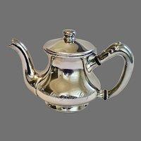 Huntington Cafe Hotel Silver Individual Teapot