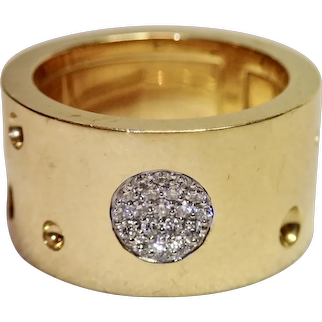 Roberto Coin Pois Moi Luna  Ring , 18K & Diamonds