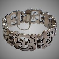 Vintage,  Signed ROSI Mexican Sterling Bracelet With Eagle Mark