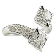 Estate Jewelry Fancy 14K White Gold Diamond Ring LAYAWAY is available
