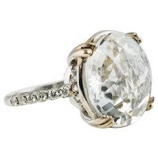 Diamond Quartz Crystal Ring 18K Gold Suzanne Kalan Vitrine