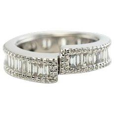 Diamond Ring Eternity Band 18K White Gold 2.80 TDW