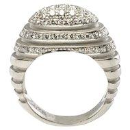 Estate Jewelry Platinum High Setting .62ct VVS-G Diamond Ring Band Unique 10gr