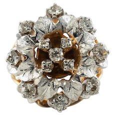 Diamond Ring .50ct Old mine cut 14K Yellow White Gold