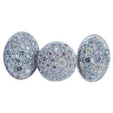 Designer Jewelry 18K White Gold 4.37cts Fancy Diamonds Ring Earrings Set 33 gr