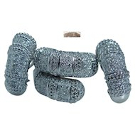 Designer Jewelry Cassis 18K White Gold 1.82cttw Diamond Earrings Ring Set