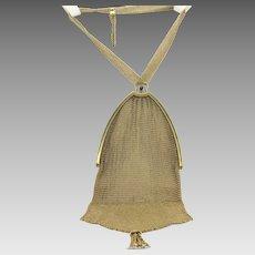 Tiffany Co 14K Yellow Gold Mesh Purse Bag 134 grams Sapphires Genuine Freshwater Pearls