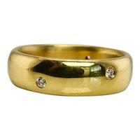 Diamond Eternity Ring 18K Gold Band Vintage Estate