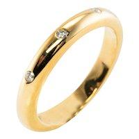 Eternity Diamond Ring 18K Gold Band Vintage David Webb