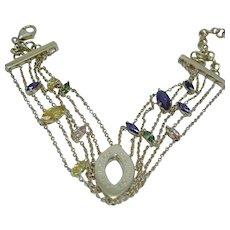 Zoughaib Chain Bracelet 18K Yellow Gold Multigem