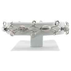 Luca Carati Diamond Bracelet .66cttw 18K White Gold Made in Italy