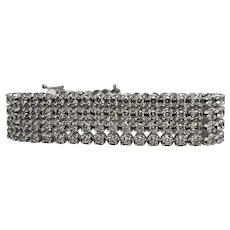 Diamond Bracelet 14K White Gold Cuff 10.40 TDW