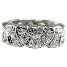 Eternity Diamond Ring Platinum Band 1.08 TDW Wedding