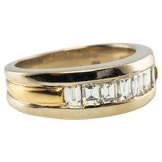 Estate 14K Yellow Gold 1.05ct VVS2 - G Diamonds Band Ring Wedding Jewelry