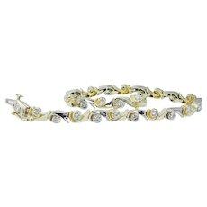 14K Yellow White Gold 1.92 cts Diamonds Diamond Bracelet Estate Jewelry