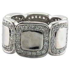 Eternity Diamond Ring 14K White Gold Band 1.68 TDW