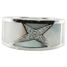 Mauboussin Diamond Star Ring Mother of Pearl 18K Gold