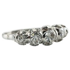 Diamond Ring Platinum Band Old Mine cut 1.40cttw