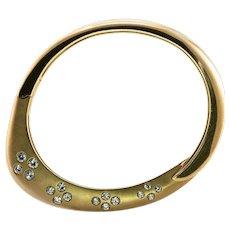 Diamond Bracelet 14K Gold Bangle by Jean © 1.62 TDW