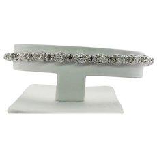 Diamond Tennis Bracelet 14K White Gold 3.38 TDW