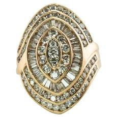 Diamond Ring 14K Gold Cocktail 3.48 TDW