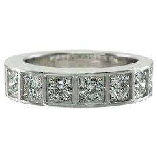 Cartier Diamond Band Ring 1.75 TDW 18K White Gold 1999 AU5930