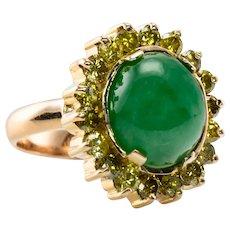 Canary Diamond Jade Ring 18K Gold