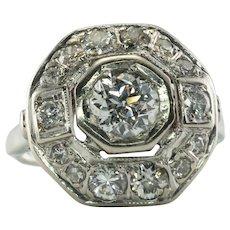 Natural Diamond Ring 14K White Gold 1.70 TDW Engagement
