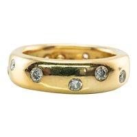 Tiffany and Co Eternity Diamond Ring 1987 18K Gold Wedding Band
