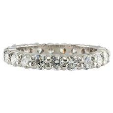Diamond Eternity Ring Band 14K White Gold 2.10 TDW