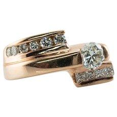 Natural Diamond Ring 14K Rose Gold 1.23ct TDW