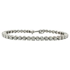 Diamond Tennis Bracelet 14K White Gold 6.30 TDW