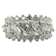 Diamond Ring Eternity Band Platinum Resizable 2.84 TDW Wedding Engagement