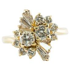 Diamond Ring 18K Gold Vintage 1.96 TDW