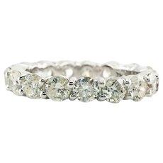 Diamond Eternity Ring Band 14K White Gold 3.40 TDW sz. 7
