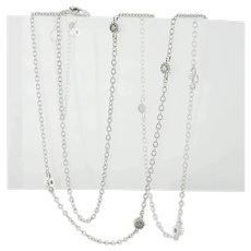 Diamond Necklace by the Yard Station 14K White Gold .20 carat