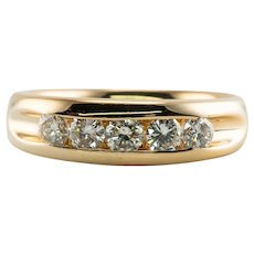 Mens Diamond Ring 14K Gold Band Artcarved .75 carat