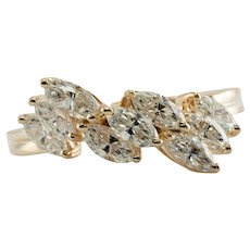 Diamond Ring 14K Gold Band .72 tdw Engagement Wedding