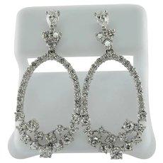 Diamond Drop Earrings 14K Gold Dangle 2.42cts TDW