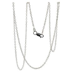 Delicate 17 inch 14K White Gold Chain for Pendant or Charm